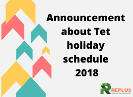 Announcement of Tet holidays 2018 1