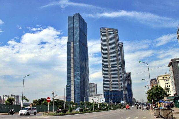 Grade A office buildings in Hanoi